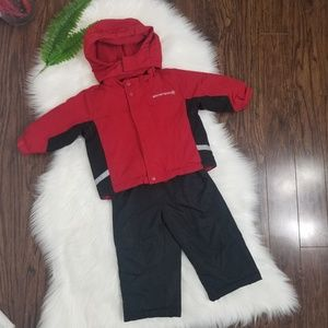 Athletic Works | Boys 18 Month SnowTech Suit Red